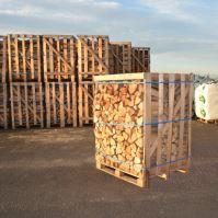 Krbové drevo štiepané - buk, dub, jaseň - debna 1m3